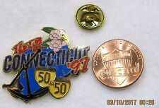QVC Connecticut State 1997 50 50 Flower Sextant Shopping USA Lapel Pin Pinback
