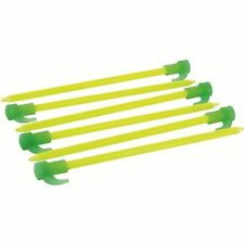 """TENT PEGS  ARC MARKERS - 8"""" FLUORESCENT PEGS  6 PACK - MILITARY CAMPING"""