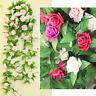 Fake Silk Rose Flower Artificial Ivy Vine Hanging Garland Wedding Home Decor JP8