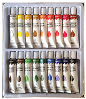 18 PC WATERCOLOR Paint Set Professional Artist Painting Pigment Tubes 12ml
