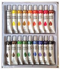 18 PC WATERCOLOR Paint Set Professional Artist Painting Pigment Tubes 12ml