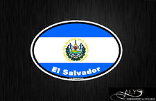 El Salvador Country Oval Flag Decals & Stickers
