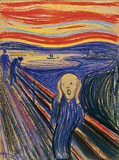 THE SCREAM 16x20 CANVAS PRINT EDVARD MUNCH PASTEL PAINTING GORGEOUS ART RARE