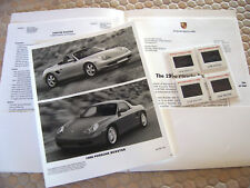 PORSCHE OFFICIAL BOXSTER LOS ANGELES AUTOSHOW PRESS KIT BROCHURE 1998 USA Ed.