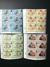 Gb Qeii Sg 1263-66 The British Council Set Cylinder Blocks of 6 1984 Stamps Mnh