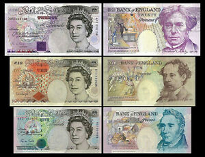 2x 5,10,20 Pounds - Issue 1990-1992 Crown at Upper Right - Reproduction 01