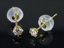 Reinheit SI Echter Diamanten-Ohrschmuck im Ohrstecker-Stil aus Gelbgold mit Butterfly-Verschluss