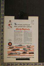 1930 Toy Ad Liberty Playboat Plaything Niagara Falls Navy Seaplane Militarytb71