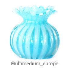 Barovier & Toso Archimede Seguso TIPO VETRO VASO MURANO Blue nervature VASO Glass 1950