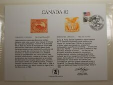 souvenir card PS 38 Canada 1982 1869 10¢ Shield and Eagle stamp Show cancelled