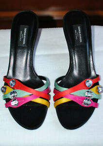 Sonia RYKIEL mules. Multicolore, soirée, pointure 35,5, talon 5cm.