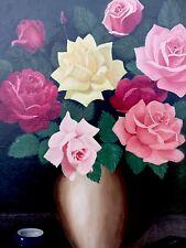 Ölgemälde Blumen In Vase signiert Norton