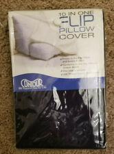 NEW! Flip Pillow Case Cover - 10-in-1 Design  - Navy