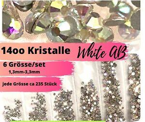 1400 Strasssteine Diamant Effekt Nagel design Nailart  kristalle AB Steinchen
