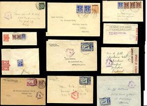 BURMA WW2 CENSORED ENVELOPES 1939-41...PRICED INDIVIDUALLY