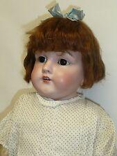 """25"""" Antique Kestner 154 13 German Doll w/Brown Sleep Eyes & Original Wig"""