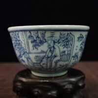 Chinese old  porcelain Blue and white character story pattern bowl