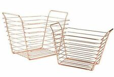 Metal Contemporary Rectangular Decorative Baskets