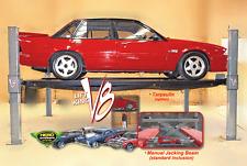 Lift King V8: 4 Post Movable Car Lift • Storage Hoist • Car Lift w/Jacking Beam