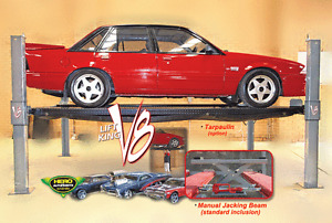 Lift King V8: 4 Post Movable Car Lift • Storage Hoist • Car Lift w/Jacking Beam