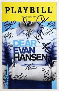 DEAR EVAN HANSEN February 2020 Cast Jordan Fisher Signed Playbill
