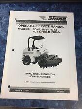 Stone Rhino SD-43, SD-54, PD-43 & PD-54 Operators / Service Manual Toro NEW