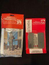 *Vtg Pair Valiant Miniatures Lead Figures Wyatt Earp & Wild Bill Hickock Nip
