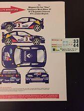 DECALS 1/43 RENAULT MEGANE MAXI BUGALSKI RALLYE MONT BLANC 1997 WRC RALLY