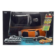 1/16  R/C Fast & Furious Dom's Dodge Charger & Brian's Toyota Supra MISB