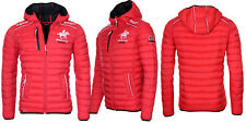 Geographical Norway Giacca invernale Uomo trapuntata Bomber a vento Bryan S Rosso