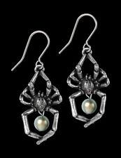 Alchemy Spinnen Ohrringe - Glistercreep - Gothic Perlen Ohrstecker Ohrschmuck