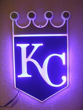 KANSAS CITY ROYALS LED NEON BAR SIGN KC LIGHT BASEBALL