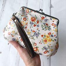 Patricia Nash Savena Wristlet leather clutch Mini Meadow floral poppy NWT