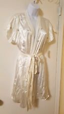 Morgan Taylor Wrap embroidered Robe with Lace SMALL/MEDIUM