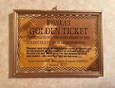 Golden Ticket Inspired  Handmade Christmas Tree Ornament For Willy Wonka Fans