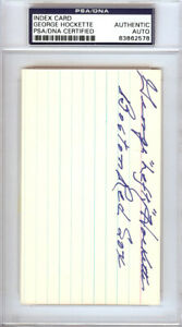 """George """"Lefty"""" Hockette Autographed 3x5 Index Card Red Sox PSA/DNA #83862578"""