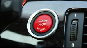 RED Start Stop Engine Push Button Switch Cover For BMW 3 5 Series E90 series
