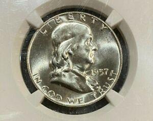1957-D Franklin 50c Half Dollar NGC MS64 FBL  ~~ (010)  ~~ PQ!! ~~