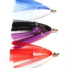 "3x 9"" Iland Bullet Game Fishing Tuna Trolling Lures Marlin Mahi Skirted Skirts"
