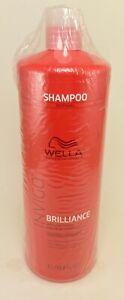 Wella Invigo Brilliance Shampoo for Coarse Hair 33.8oz / Liter