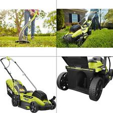 13 in. one+ 18-volt lithium-ion battery walk behind push lawn mower & strin