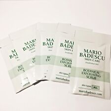 5 x MARIO BADESCU Botanical Exfoliating Scrub - 0.35oz/10g each Total 1.75oz