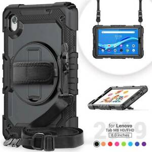 """Case Screen Cover Hand Strap Stand For Lenovo Tab M8 TB-8505F HD TB-8705F FHD 8"""""""