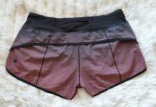 Lululemon H20 Speed Shorts Double Gradient Yum Yum Pink  Sz  8   EUC!!