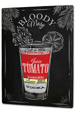 Tin Sign XXL Bar Party Bloody Mary recipe metal plate plaque