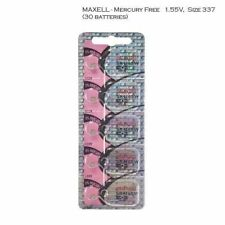 Maxell 337 SR416SW V337 LR416 D337 SR416 Silver Oxide Watch Batteries (30 Pcs)