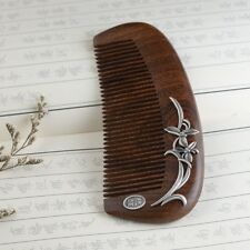 925 sterling silver &Sandalwood Hair comb Pick No Static health wood Brush S2251