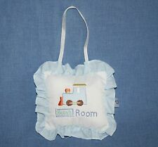 "Baby Boys Nursery Hanging Decoration Pillow Train Small 6"" Door Room Chick Pea"