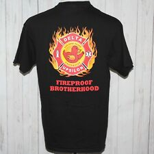 Delta Upsilon Large San Jose State University Fireproof Brotherhood T-Shirt Tee