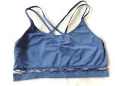 Victoria's Secret Sports Bra S Blue Yoga Work Out SEXY VS Bralette EUC